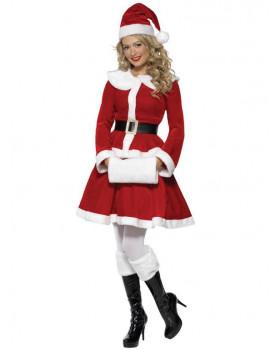 Kostým pro dospělé - Paní Santová - velikost M