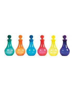 Magické fľaše - farebné