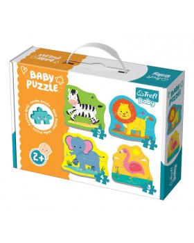 Baby Puzzle - Zvieratká zo safari