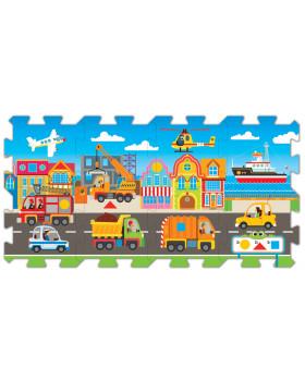 Náučné puzzle 5 v 1-Dopravní prostředky