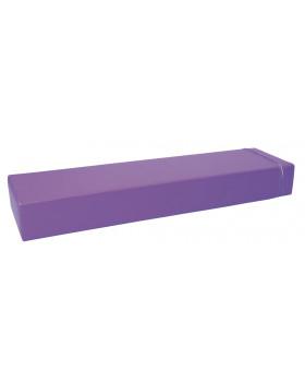 Prostokąt płaski mały - fioletowy