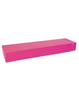 Prostokąt płaski mały - różowy