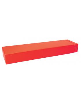 Prostokąt płaski mały - czerwony
