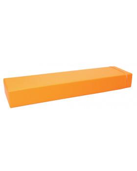 Prostokąt płaski mały - pomarańczowy