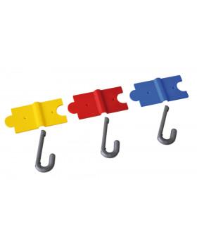 Bezpečný puzzle vešiak - červený