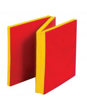 Skládaná cvičební matrace - červená