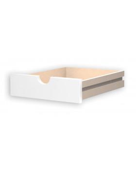 Zásuvka s otvorom, malá - biele