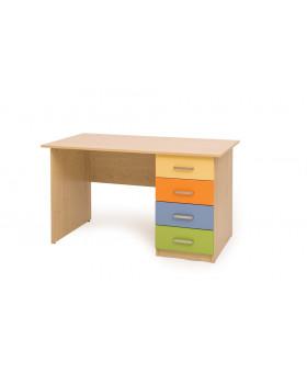 Barevný psací stůl
