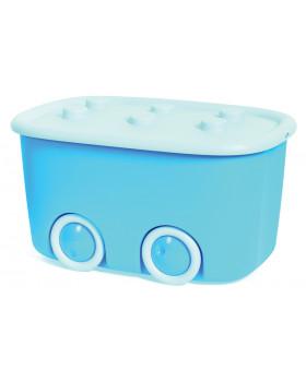 Plastový box na kolečkách - modrý