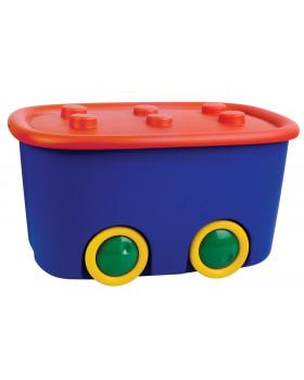Plastový box na kolečkách - barevný