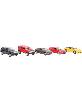 Modely autíček, 5 ks