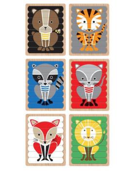 Obojstranne paličkové puzzle - Zvieratá