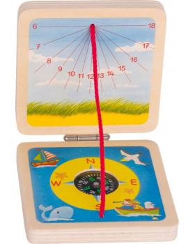 Slnečné hodiny a kompas 6 ks