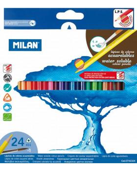 Akvarelové farbičky 24 ks
