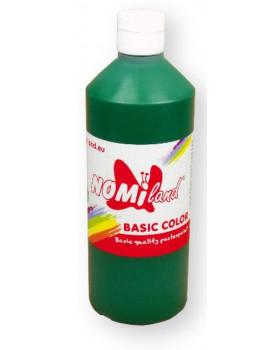 Temperové barvy BasicColor 500ml tmavě zelená