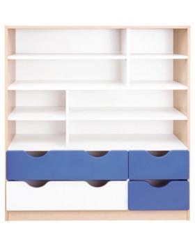 Skříňka - ABS hrany o tloušťce až 2 mm - dřevotřískové desky o tloušťce až 18 mm Rozměr: 116 x 40 x 126,5 cm.KP3306MW