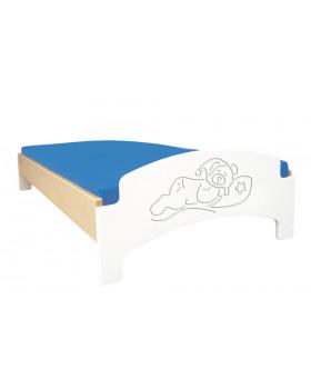 Farebné ležadlo - spiaci medvedík - biela