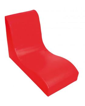 Fotel SOFT Relax dla 1 dziecka - czerwony