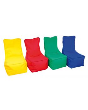 Textilný sedací vak - detský, červený