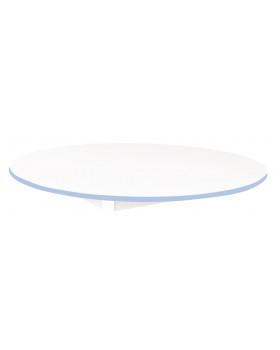 Stolová deska BÍLÁ - kruh 125 - modrá