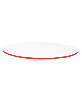 Stolová deska BÍLÁ - kruh 125 - červená