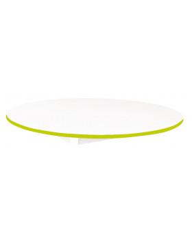 Stolová deska BÍLÁ - kruh 125 - zelená