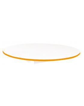 Stolová deska BÍLÁ - kruh 125 - oranžová
