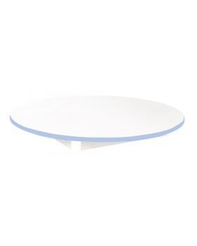 Stolová deska BÍLÁ - kruh 90 - modrá