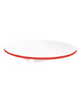Stolová deska BÍLÁ - kruh 90 - červená