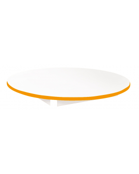 Stolová deska BÍLÁ - kruh 90 - oranžová