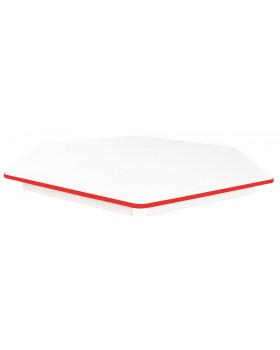 Stolová deska BÍLÁ - šestiúhelník 60- červená