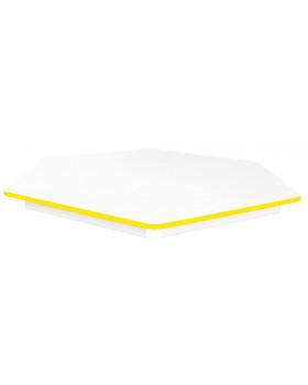 Stolová deska BÍLÁ - šestiúhelník 60 - žlutá