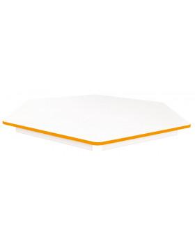 Stolová deska BÍLÁ - šestiúhelník 60 - oranžová