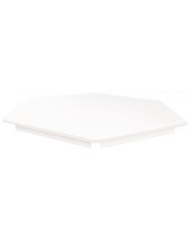 Stolová deska BÍLÁ - šestiúhelník 80 - bílá