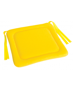 Sedák na stoličku 3 - žltý 34x34 cm VYP