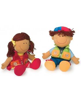 Textilné bábiky Peťo a Paťa