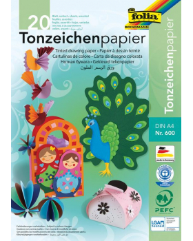 Farebný papier 20 hárkov