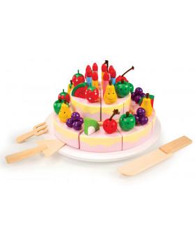 Narodeninová ovocná torta