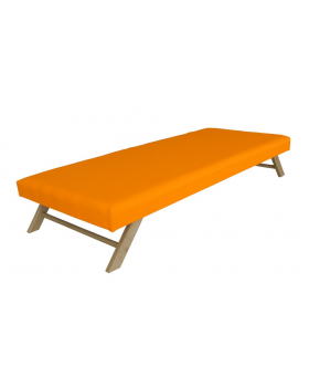 Ležadlo skláp. s nepr.matr.oranžové