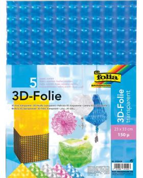 3D folia s hologf.efektom