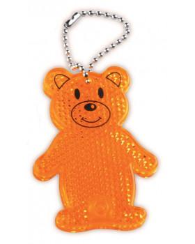 Reflexný prívesok Medvedík-oranžový