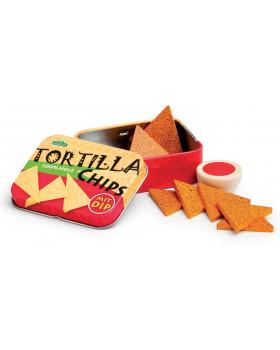 Chipsy Tortilla v dóze