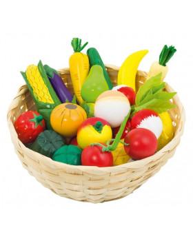 Ovocie a zelenina v košíku