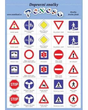 Pexeso - Dopravní značky FO