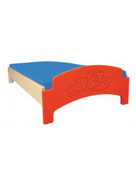 Ležadlo bez matraca/červené/spiaci medvedík