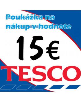 TESCO poukážka 15 eur