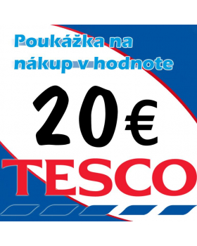TESCO poukážky v hodnote 20 €