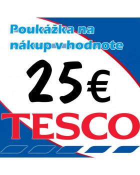 TESCO poukážky v hodnote 25 €