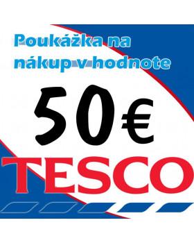 TESCO poukážky v hodnote 50 €