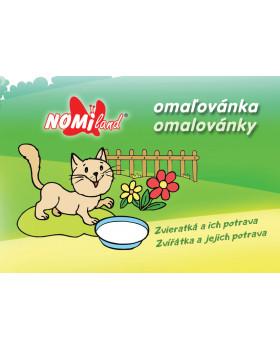 Omaľovánka - Zvieratká a ich potrava